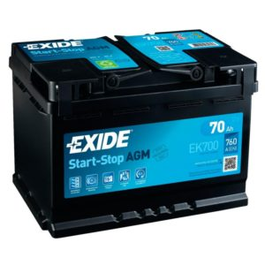 Аккумулятор EXIDE Start&Stop AGM 70Ah EN760 о.п.(278х175х190) (EK700)
