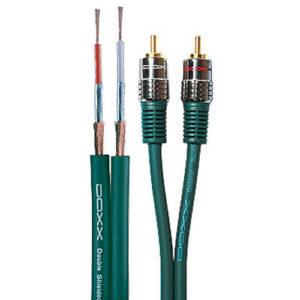 Межблочный аналоговый аудио кабель 2RCA - 2RCA DAXX R50-25 (2,5 метра)