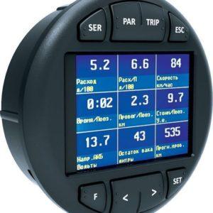"""Совместимость Multitronics C-590 устанавливается на место центрального воздуховода в автомобилях Lada Granta / Largus, Renault Logan / Sandero / Duster, Nissan Almera, на место центральной вставки панели приборов Газель NEXT, а также в совместимые посадочные места других автомобилей. Цветной дисплей Цветной TFT дисплей 2.4"""" разрешением 320х240 и рабочей температурой от -20 градусов. Цветовое оформление дисплеев может быть настроено пользователем индивидуально (по RGB каналам). Четыре предустановленные цветовые схемы с быстрым переключением. Мультидисплеи Дисплеи х 1 параметр, 6 настраиваемых дисплея х 4 параметра, 4 настраиваемых дисплея х 7 параметров, 3 настраиваемых дисплея х 9 параметров, 8 графических настраиваемых дисплеев х 2 (или 1) параметр, 8 стрелочных настраиваемых дисплеев х 2 параметра, 7 дисплеев средних параметров х 7 параметров, 2 дисплея парктроника, 4 горячих меню х 10 функций. 32-разрядный процессор Мощный 32-разрядный процессор обеспечивает большую точность и скорость работы. Расширенная диагностика До 200 параметров диагностики ЭБУ для множества оригинальных протоколов, включая паспорт, сервисные записи ЭБУ на уровне диагностического сканера. Чтение данных стоп-кадра (до 40 параметров) при возникновении ошибки в работе системы, состояния контрольных систем автомобиля из оригинального протокола без переключения в протокол OBD-2. Диагностика не только ошибок, но и параметров АБС, электропакета и других дополнительных систем. Простая настройка Большую часть настроек можно редактировать и сохранять при помощи программы с обычного персонального компьютера (при подключении стандартным кабелем mini-USB). Перенос статистики поездок на ПК Статистика поездок может быть перенесена на персональный компьютер и импортирована в различные программы для дальнейшего анализа и ведения статистики за продолжительный период времени. Сохранение файла конфигурации на ПК Все настройки бортового компьютера могут быть сохранены в файл на ПК пользователя - это позволяет о"""