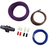 Профессиональный комплект кабелей и аксессуаров для установки 2-канального усилителя URAL (Урал) 8Ga-BV Light KIT
