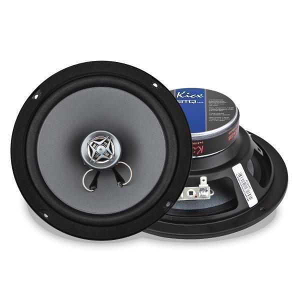 Купить акустика kicx STQ 165 2-х полосные коаксиальные аудиосистемы с диффузором из прессованной целлюлозы c добавками хлопкового волокна Екатеринбург.