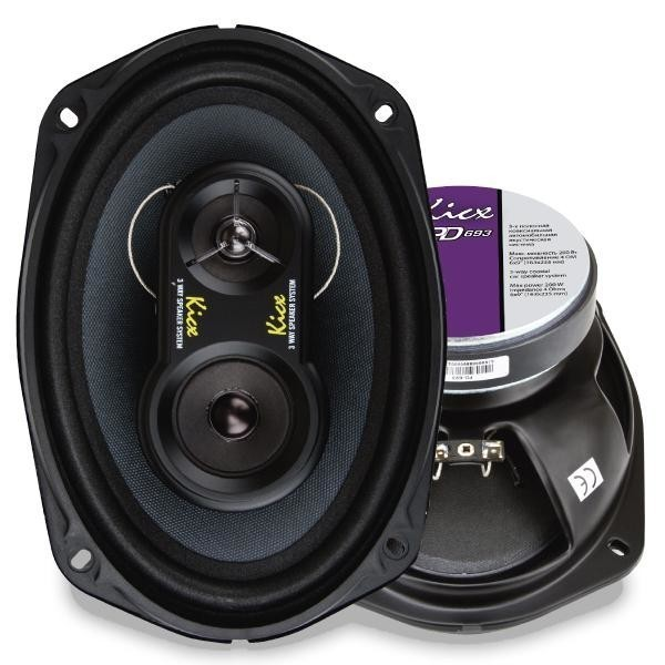 Купить акустика kicx PD-693 3-х полосные коаксиальные аудиосистемы с диффузором из целлюлозы c металлизированным покрытием и влагозащитной пропиткой Екатеринбург.