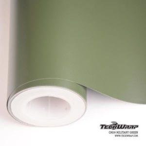 Матовая пленка хаки TeckWrap - Military Green - CM09