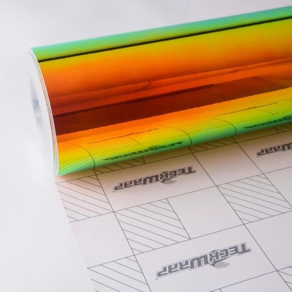 Пленка Радужный хром зелено-оранжевый TeckWrap - Ammolite Gem - MCH02