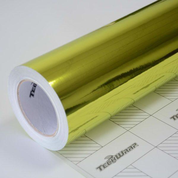 Пленка Зеркальный хром лайм TeckWrap - Lime Green - CHM15E