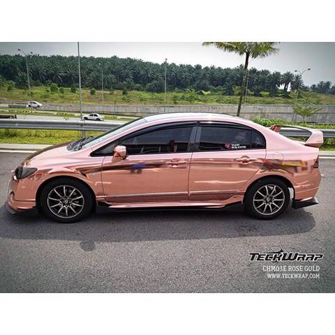 Пленка Зеркальный хром светло-розовый TeckWrap - Rose Gold - CHM03E