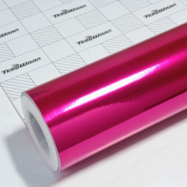 Пленка Зеркальный хром розовый TeckWrap - Rose Pink - CHM12E