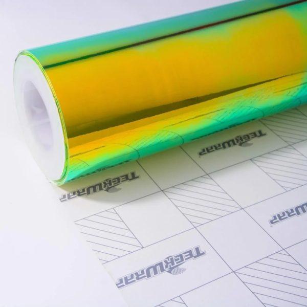 Пленка Радужный хром зелено-желтый TeckWrap - Green Malachite - MCH04