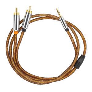 Помехозащищенный Mini Jack кабель с чистым сигналом dl audio Gryphon PRO Mini Jack — 2RCA 1M