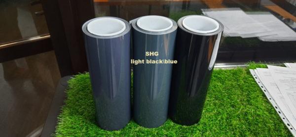 Полиуретан фарный SHG SMOKE BLUE 45% светло-черный с синим оттенком ширина 0,3м