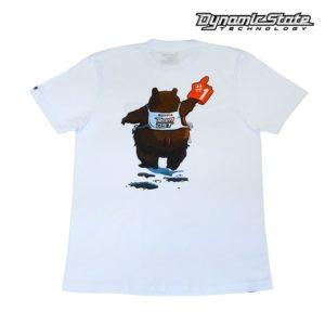 Dynamic State Футболка белая Медведь Team-DST