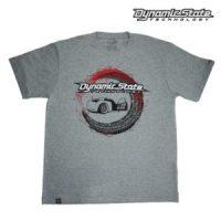 Dynamic State Футболка серый меланж Машина Team-DST