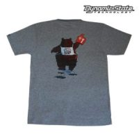Dynamic State Футболка серый меланж Медведь Team-DST