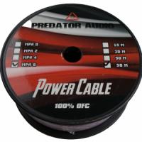 Силовой кабель PREDATOR 8GA МЕДЬ 50 метров